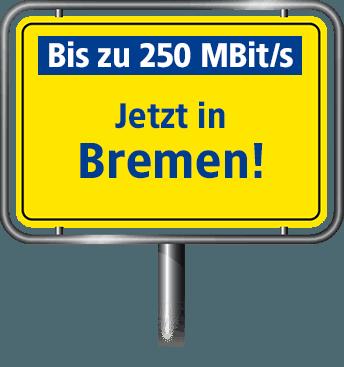 Bis zu 100 MBit/s in Bremen