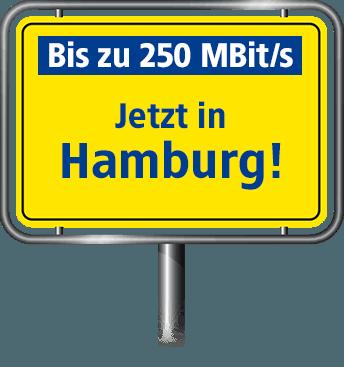 Bis zu 100 MBit/s in Hamburg