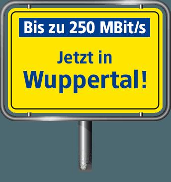 Bis zu 100 MBit/s in Wuppertal