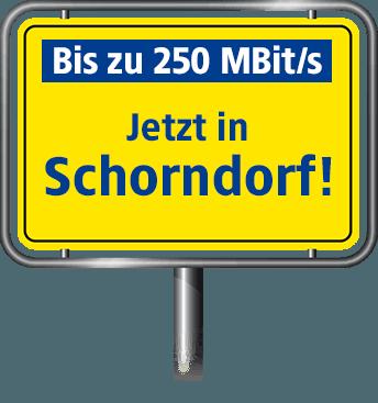 VDSL in Schorndorf mit bis zu 100 MBit/s