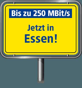 VDSL in Essen mit bis zu 100 MBit/s
