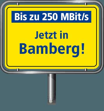 VDSL mit bis zu 100 MBit/s in Bamberg