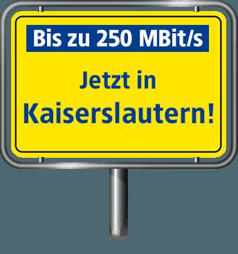 Bis zu 100 MBit/s in Kaiserslautern