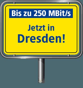 Bis zu 100 MBit/s in Dresden