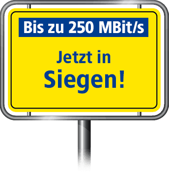 Bis zu 100 MBit/s in Siegen