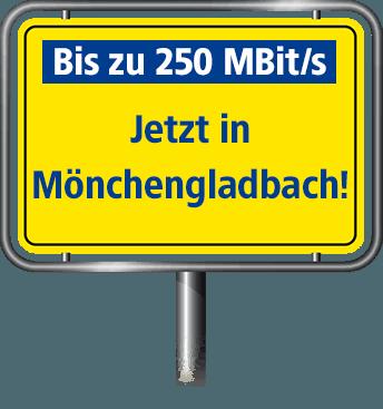 Bis zu 100 MBit/s in Mönchengladbach
