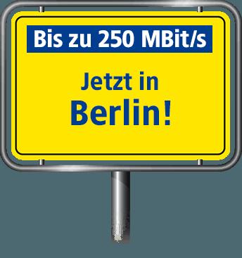 Bis zu 100 MBit/s in Berlin