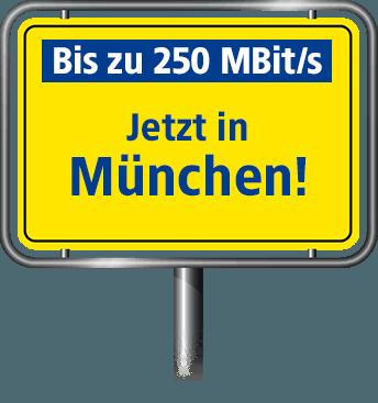 Bis zu 100 MBit/s in München