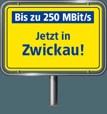 Bis zu 100 MBit/s in Zwickau