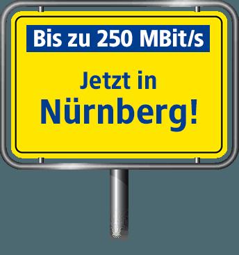 Bis zu 100 MBit/s in Nürnberg