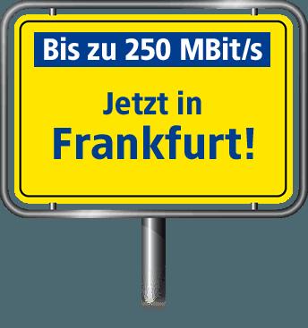 Bis zu 100 MBit/s in Frankfurt