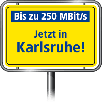 Bis zu 100 MBit/s in Karlsruhe