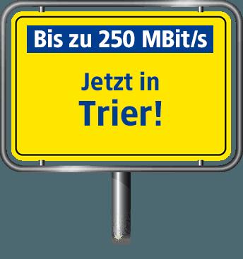 Bis zu 100 MBit/s in Trier