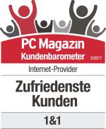 PC Magazin Kundenbarometer Internet-Provider 05/2017