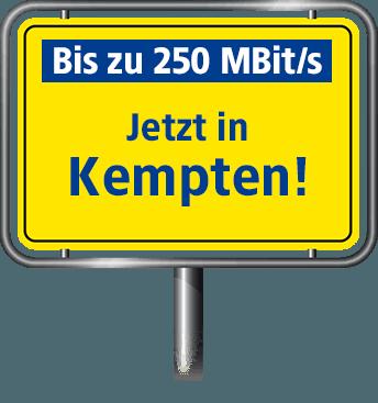 VDSL Anschluss bis zu 100 MBit/s in Kempten