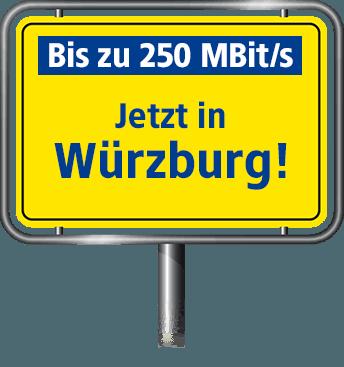 VDSL Anschluss bis zu 100 MBit/s in Würzburg