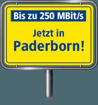 VDSL Anschluss bis zu 100 MBit/s in Paderborn