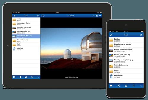 1&1 Online Speicher App runterladen