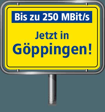 VDSL Anschluss bis zu 100 MBit/s in Göppingen